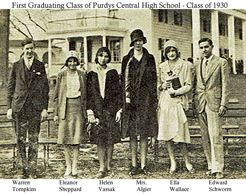 purdys central high school class of 1930
