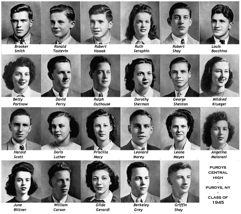 purdys central high school class of 1945