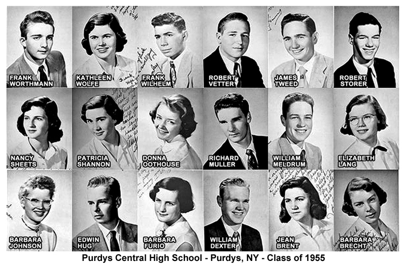 Purdys Central High School - Class of 1955