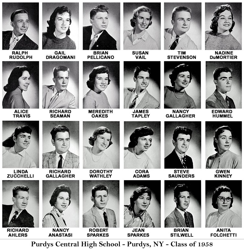 Purdys Central High School - Class of 1958