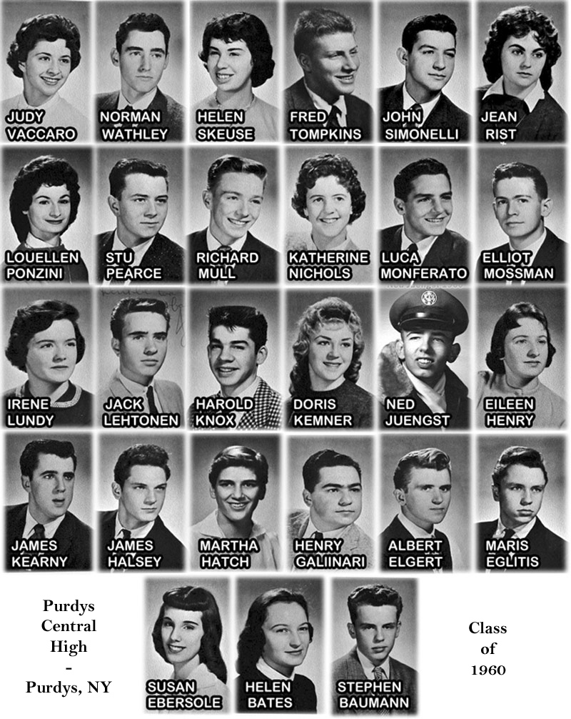 purdys central high school class of 1960