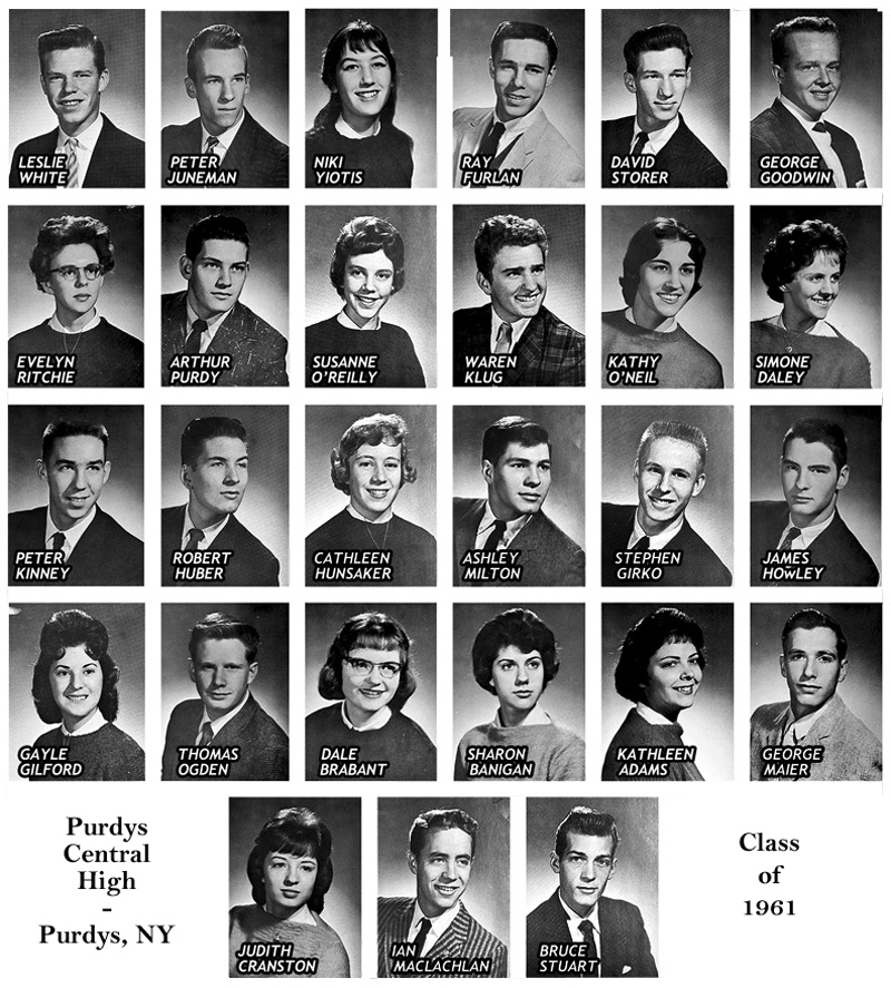 purdys central high school class of 1961
